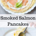 smoked salmon pancakes pin
