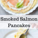 smoked salmon pancakes pin