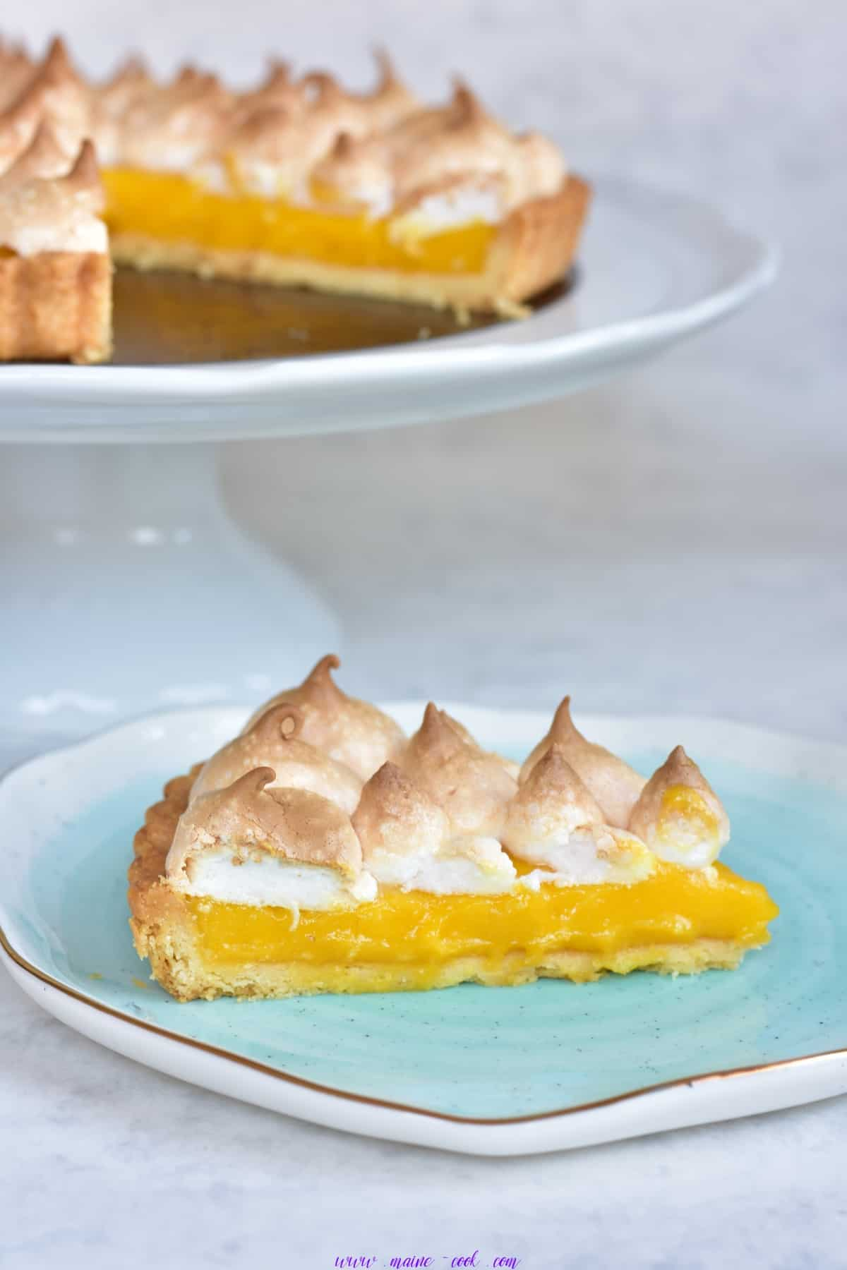 tarta z kremem z marakui i bezą passion fruit curd meringue tart