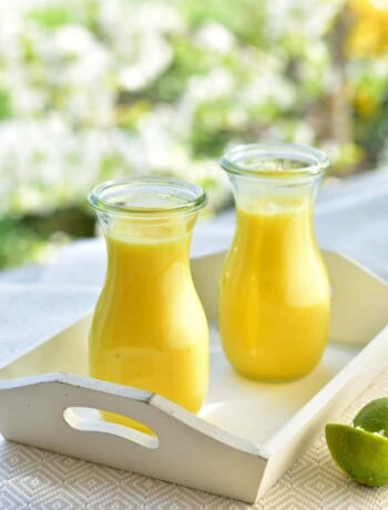 smoothie ananas-banan-limonka pineapple banana and lime smoothie