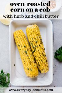 oven-roasted corn on a cob pin
