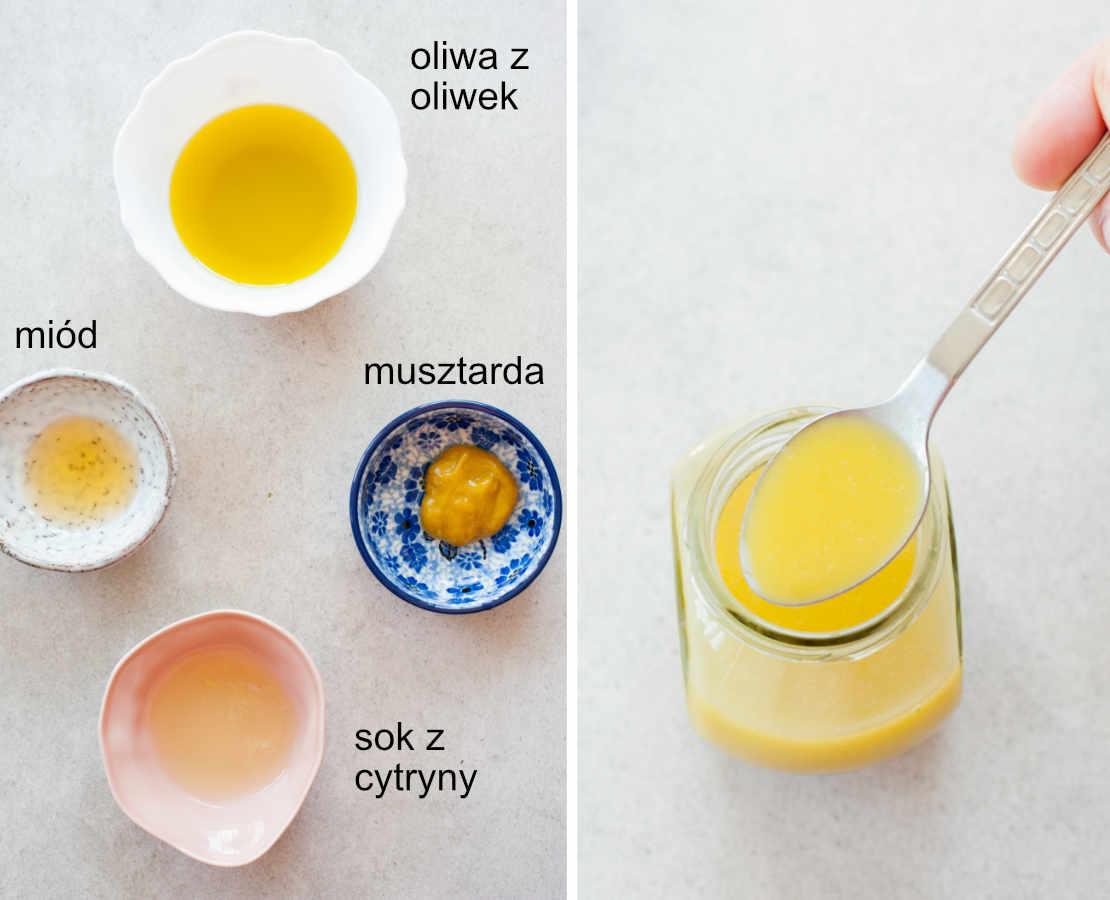 składniki na sos musztardowo-miodowy