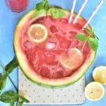 lemoniada arbuzowa z mięta watermelon and mint lemonade