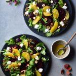 two plates with buckwheat salad