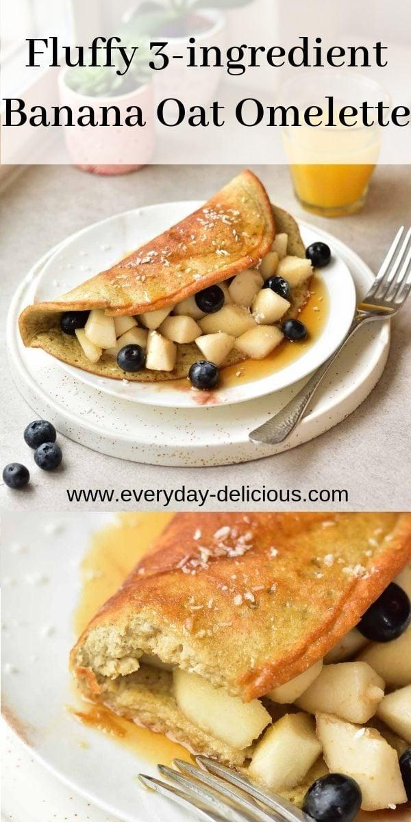 banana oat omelette