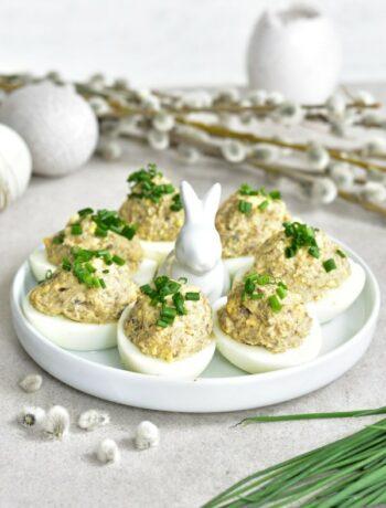 mushroom deviled eggs
