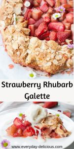 strawberry rhubarb galette pin