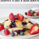 sheet pan pancakes pinterest pin