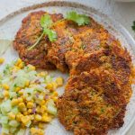 sweet potato zucchini fritters pin