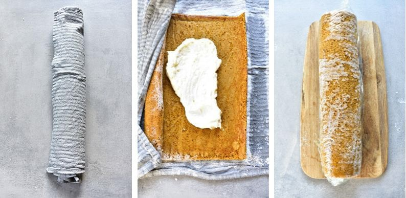pumpkin roll recipe preparation steps