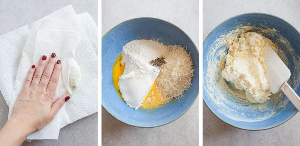 etapy przygotowania gnocchi z ricottą