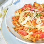 spaghetti with chanterelles