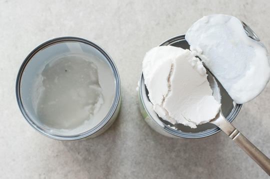 thick and thin part of canned coconut milk