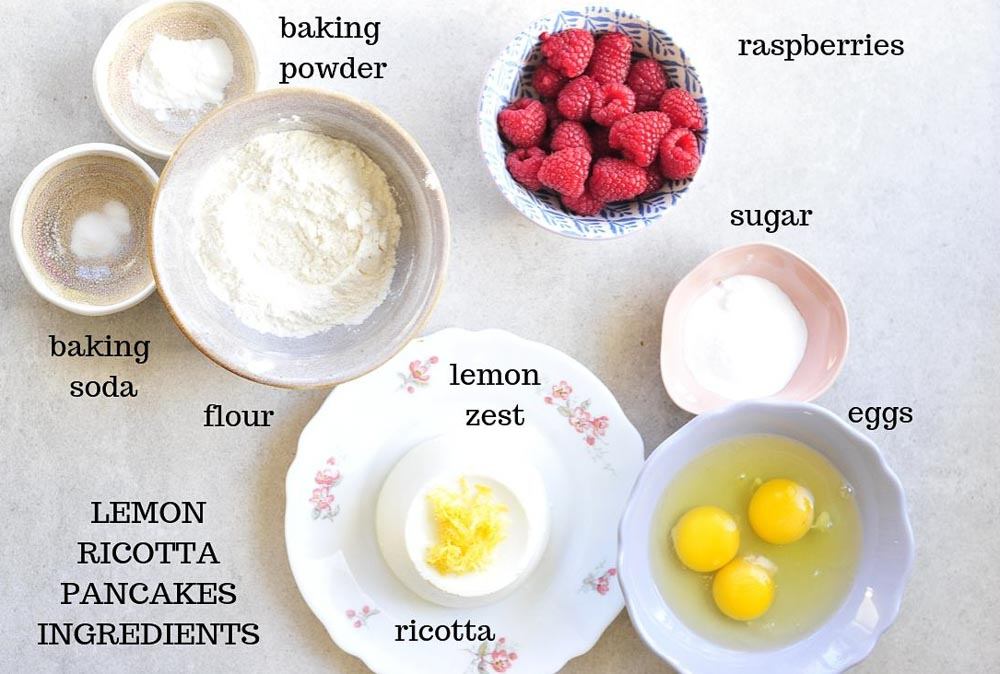 lemon ricotta pancakes ingredients