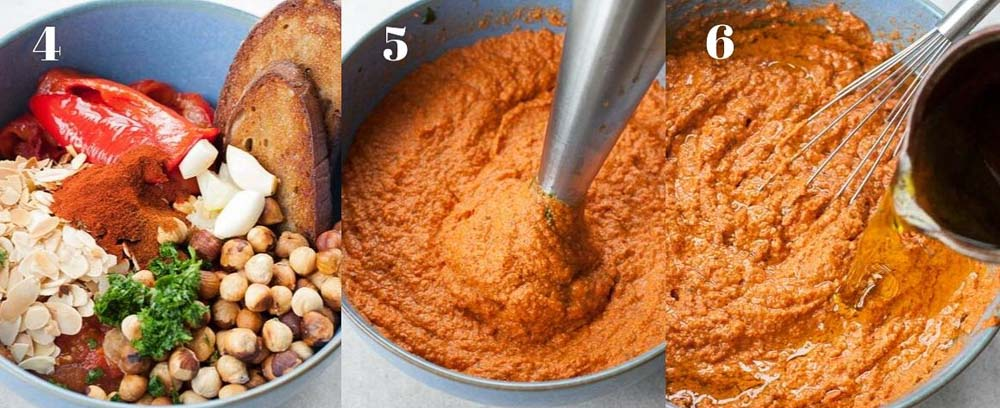 romesco sauce preparation steps