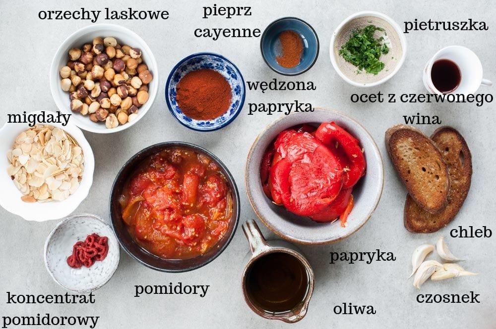 składniki na sos romesco