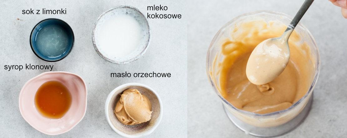 sos z masła orzechowego