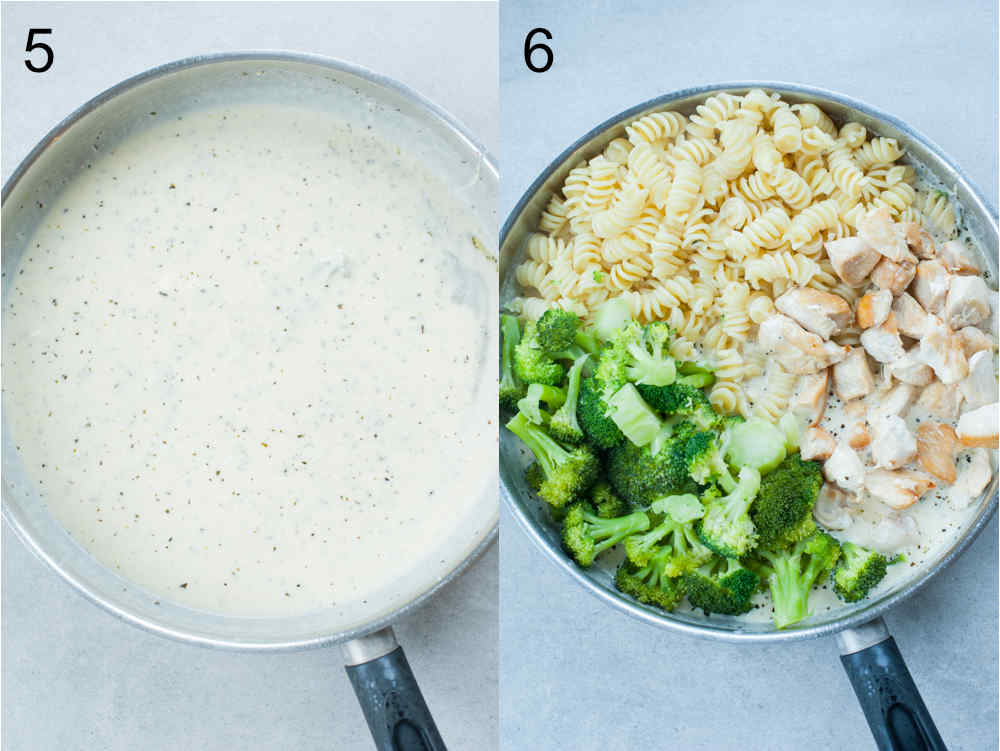 Chicken with 4 cheese sauce preparation steps