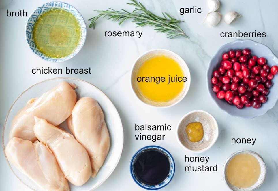 Cranberry balsamic chicken ingredients