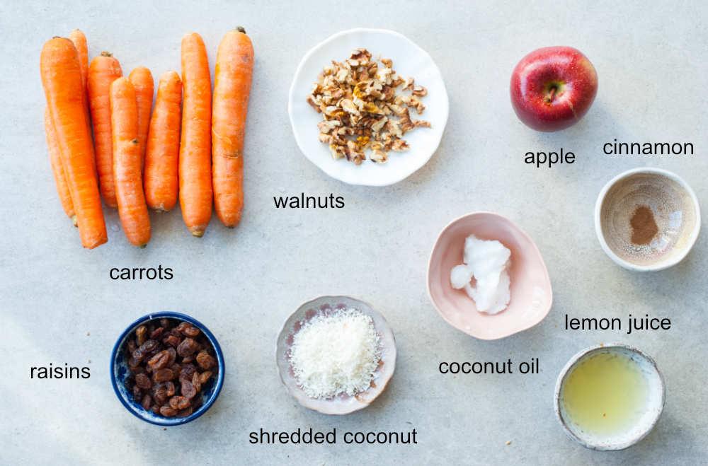 carrot apple salad ingredients