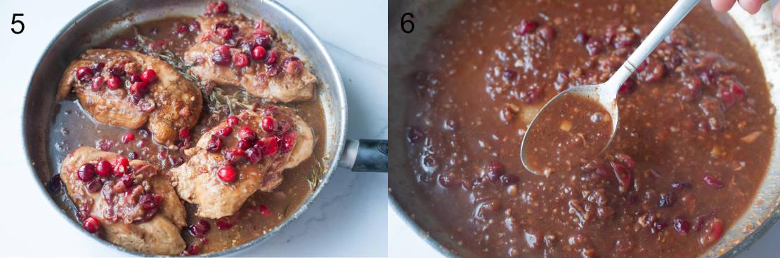 Cranberry balsamic chicken preparation steps