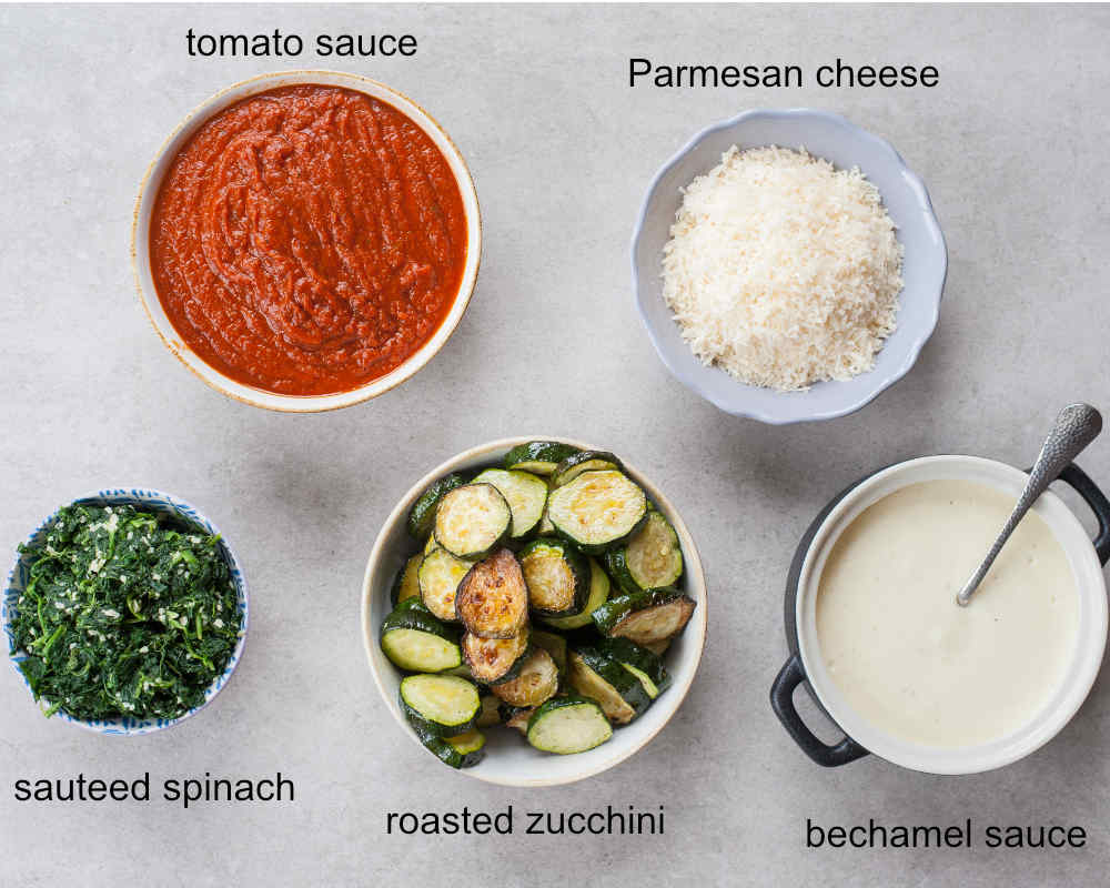 zucchini spinach lasagna ingredients