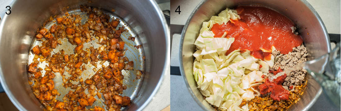 etapy przygotowania zupy gołąbkowej