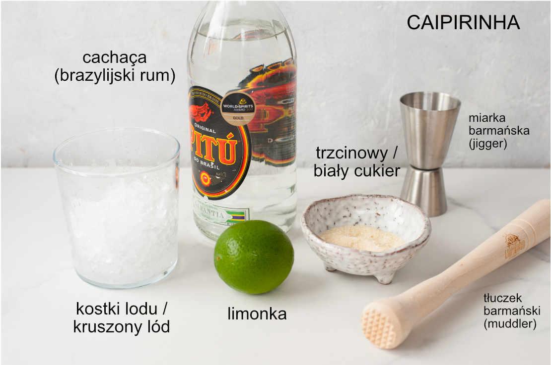 składniki na drink caipirinha