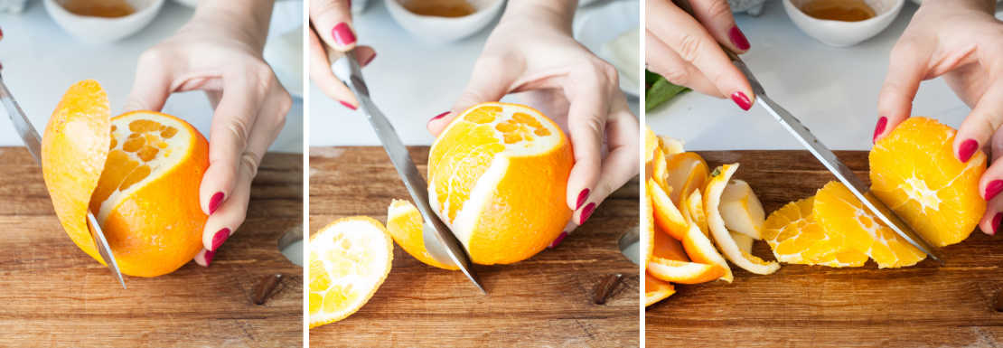 filleting an orange