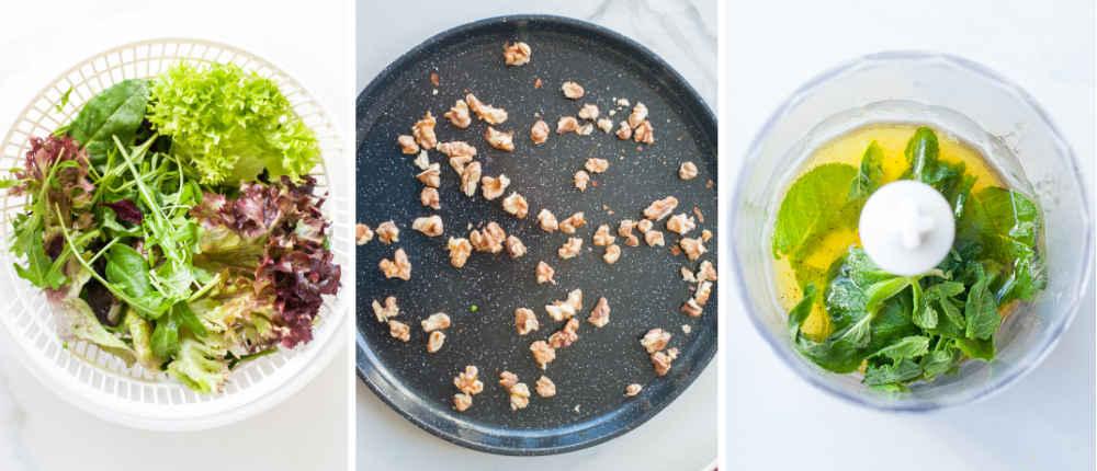 etapy przygotowania sałatki