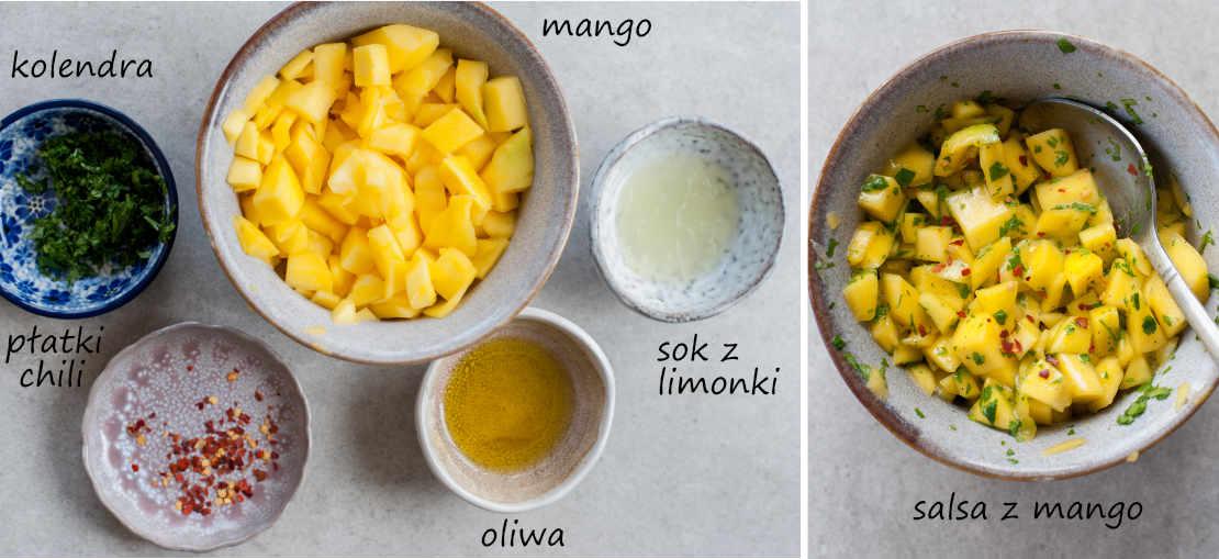składniki na salsę z mango