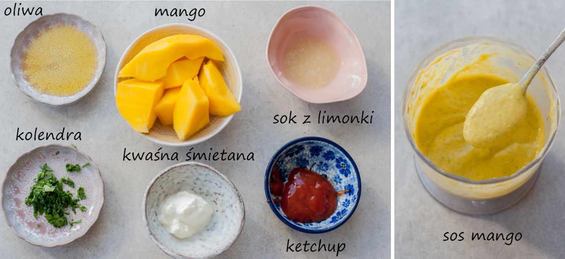 składniki na sos z mango