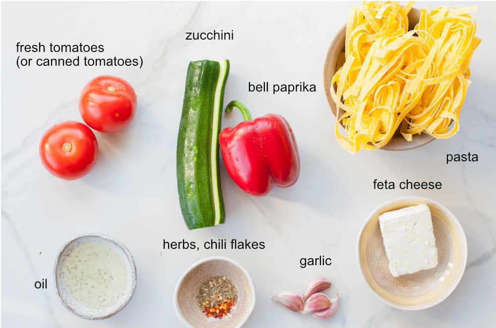 vegetable pasta ingredients