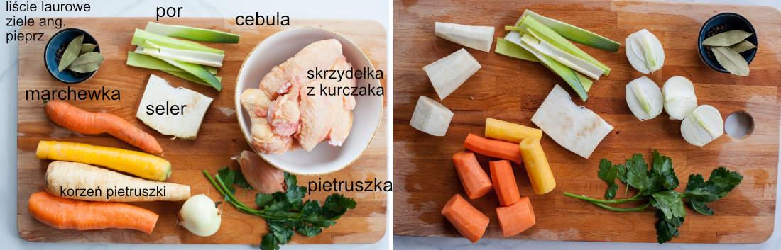 składniki na bulion z kurczaka