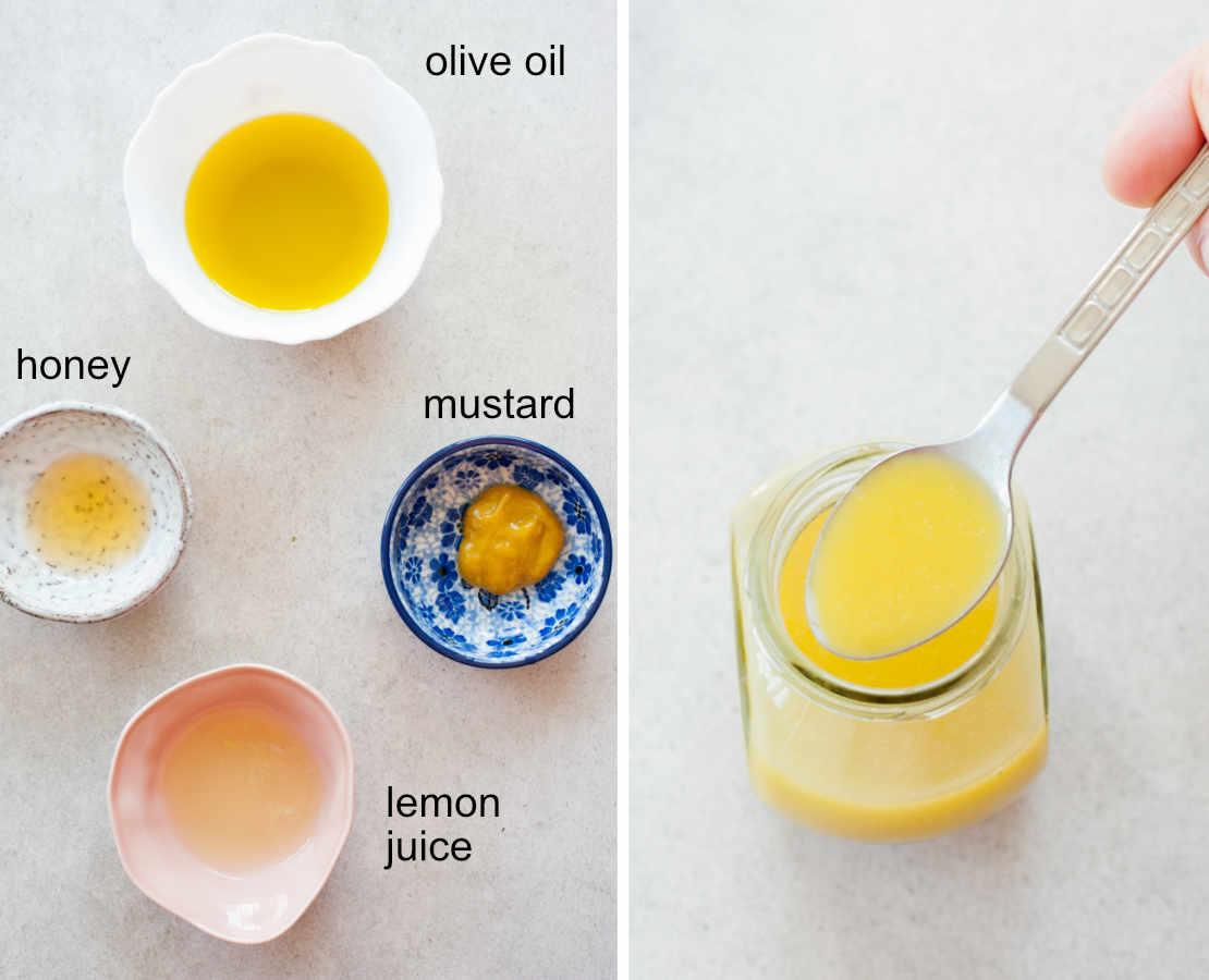 ingredients for honey mustard vinaigrette