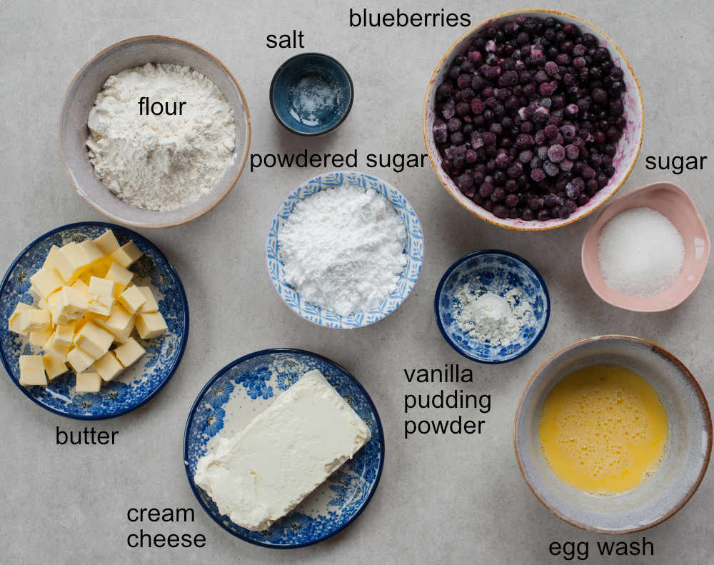 blueberry hand pies ingredients
