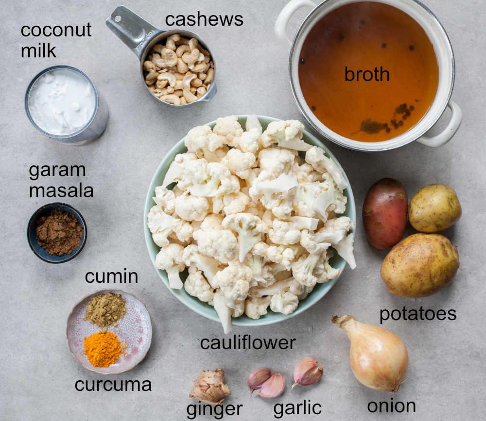 curried cauliflower soup ingredients