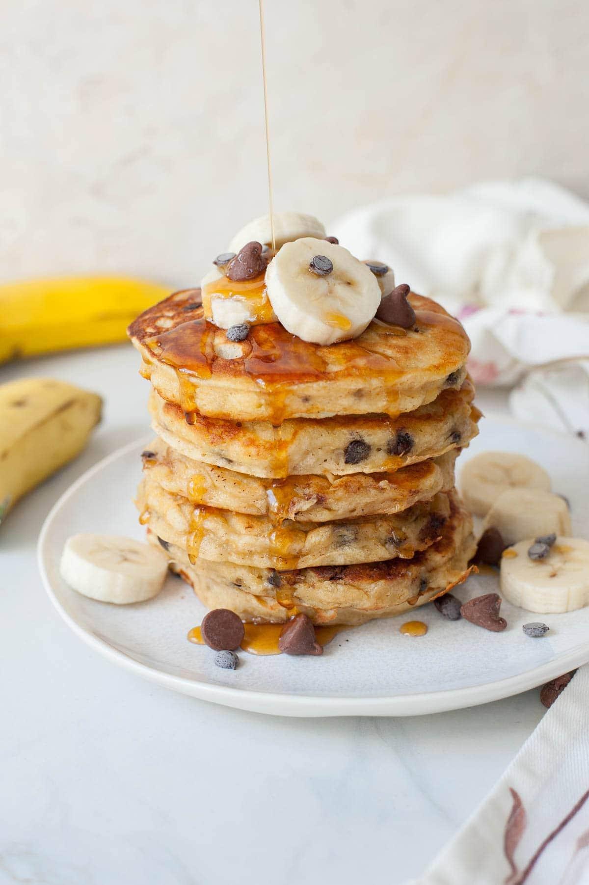 Banana Chocolate Chip Pancakes Everyday Delicious