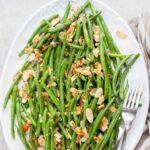 green beans almondine pinnable image