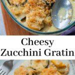zucchini gratin pinnable image