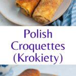 Polish krokiety pinnable image.