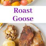 Roast goose pinnable image.