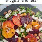 Buckwheat salad pinnable image.