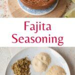 Fajita seasoning pinnable image.
