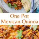 Mexican quinoa pinnable image.