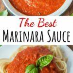 Marinara sauce pinnable image.