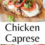 Chicken Caprese pinnable image.