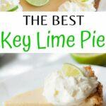Key lime pie pinnable image.