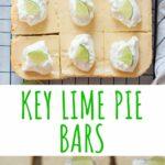 Key lime pie bars pinnable image.