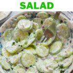 Mizeria salad pinnable image.